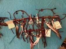 AMERICAN INDIAN MADE: GENUINE NAVAJO PEACE PIPE/TOMAHAWK Red Beads Smokes good!