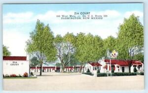 FARMINGTON, New Mexico NM ~ Roadside ZIA COURT San Juan County c1940s Postcard