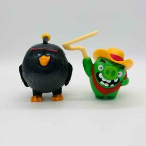 Angry Birds Movie Bomb Bird & Cowboy Green Pig McDonald's Happy Meal Action Toys