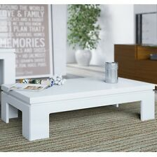 Bridge 2.0- 41.65 Inch Length Modern White Gloss Accent Side Coffee Table 84652