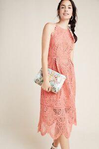 Anthropologie Ava Lace Midi Dress 8 NEW