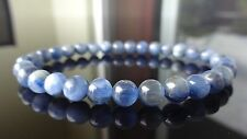Genuine KYANITE Bead Bracelet for Men or Women (On Stretch) 6mm AAA Quality 7.5""