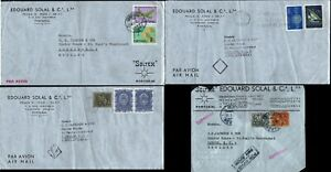 Portugal 1960 4 Covers Airmail Porto to London Postal History