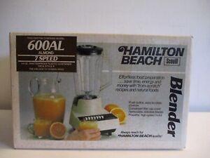 NEW Hamilton Beach Scovill Vintage Almond 7-Speed Blender NOS in Sealed Box USA