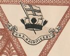 HMS MAGNIFICENT ROYAL NAVY RARE VINTAGE BRITISH MILITARY PAPER CREST