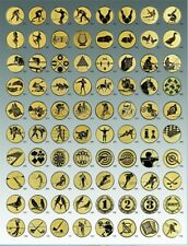 3x Alu-Embleme 50mm, go, si oder bronzefarben, selbstklebend PORTOFREI