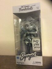 Cryptozoic DC Bombshells Supergirl Vinyl Figure Exclusive Black and White Sketch