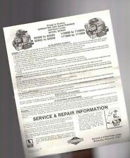 vintage BRIGGS & STRATTON Instructions,Warranty,Engine Tag,Remote Control Inst.