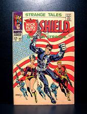 COMICS: Strange Tales #167 (1968), iconic Steranko cover- (Nick Fury/Dr Strange)