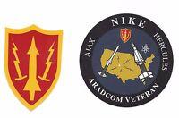Army Air Defense Command ARADCOM & ARADCOM VETERAN Vinyl Decal Set