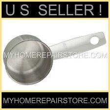 —US SELLER ! —STAINLESS STEEL—2 TBSP—SILVER—COFFEE SCOOP—MEASURING SPOON—1/8 CUP