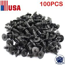 100 Pcs Hole Black Plastic Bumper 7mm Fender Push Car Door Clips Rivet Panel