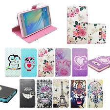 Fashion Flip PU Leather Card Pouch Holster Wallet Cover Case For Samsung Phones