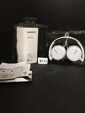 Sony MDRZX110 Over the Ear Headphones With Mic  - White