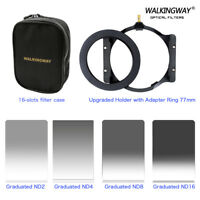 100*150mm ND2 4 8 16 Square ND Filter Kit Set+77mm Ring+Holder+Case for Cokin Z