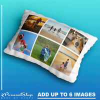 Personalised Photo Pillowcase Cushion Pillow Case Cover Custom Gift up to 6 pics