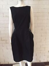 Wayne By Wayne Cooper Studded Ladies Dress Sheath Black Size 16