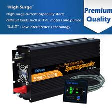 2500W/5000W power Inverter 12V a 220V Onda Sinusoidale Pura Convertitore Remote