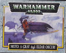 CITADEL MINIATURES - WARHAMMER 40000 40K - DARK ELDAR A-GRAV BIKE - NUOVO