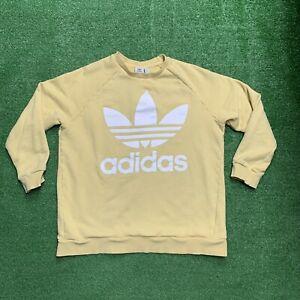 Women's Adidas Crewneck Sweatshirt - Size Large Yellow