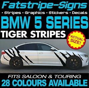 BMW 5 SERIES TIGER STRIPES GRAPHICS STICKERS M5 GT M SPORT SALOON TOURING 520d
