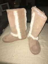 New BEARPAW WOMEN'S ESKIMO SHEEPSKIN BOOTS WOMEN'S SIZE 6 CHESTNUT Tan
