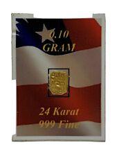 0.10 Gram .999 Fine Gold Bar Orafol