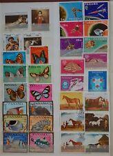PANAMA - Posten 60er Jahre - Pferde - Fische - Space -  32 Marken - siehe Foto