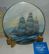 "Mib 1981 Golden Age of Sail ""Sea Witch"" #4 by Charles Lundgren Plate"