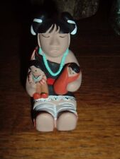 STORYTELLER CLAY POTTERY STATUE   SIGNED  EISSEDRE B.  '87  SMALL