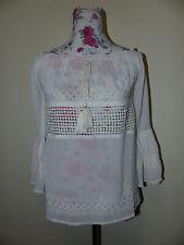 Neues Aeryn Damen Shirt Tunika Bluse Top Carmen Schulterfrei Gr. S Creme NEU/OVP