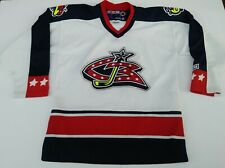 CCM Columbus Bluejackets Stitched Jersey Size Boys L/XL