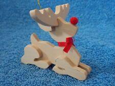 Handmade Wood Reindeer Christmas Ornament