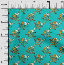 oneOone Leaves,Bird & Floral Block Print Fabric By The Yard - BP-1035B_5