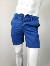 ABERCROMBIE & FITCH Classic Fit Shorts Blue Lightly Distressed Cotton sz 30 NWT