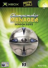 CHAMPIONSHIP MANAGER SEASON 02/03 Xbox MS Video Game Original UK Rele New Sealed