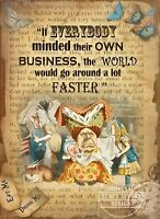 ALICE IN WONDERLAND :THE DUCHESS METAL SIGN MEDIUM / LARGE SIZE  AVAILABLE