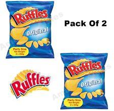 Ruffles Original Potato Chips 2 x 300G Party Size