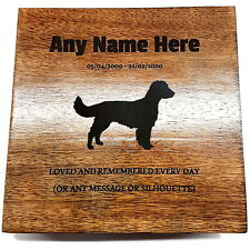 Spaniel Pet Urn Ashes Pet Box Dog Urn Cat Urn Personalised Breed Silhouettes