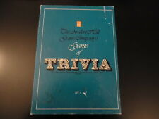 """AVALON HILL """"GAME OF TRIVIA"""" 1981  AH 7000 BOOKSHELF GAME  1000's of Questions!"""