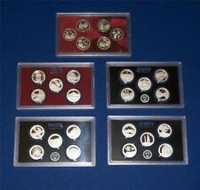 2009 through 2013  Silver Proof Quarter Sets NO Box/COA -26 COINS-FIVE Sets