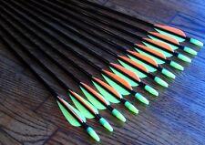 "12 Shiny Black ® Fiberglass Target Practice Arrows 24"""