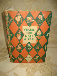 Vintage Book Of Verses From Near And Far Part I - 1950