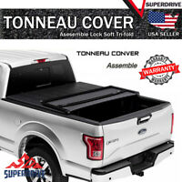 Fits 2015-2020 Ford F-150 8ft Long Bed Assemble Lock Soft Tri-Fold Tonneau Cover