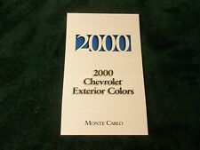 MINT 2000 CHEVROLET EXTERIOR COLORS MONTE CARLO NEW (NI)