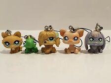Genuine Littlest Pet Shop Keychain Schoolbag 2010 Figurines Five Together LPS