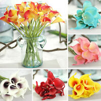 Artificial Flower Bouquet Callalily Real Touch Bridal Wedding Supply Home Decor