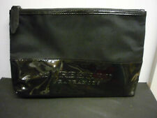 new burberry fragrances black fabric and patent zip top washbag