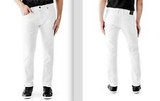 Size 34 x 33, Guess Man's, pants, slim straight, White denim, M54AS1D1L61