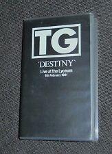 Throbbing Gristle DESTINY VHS Live at the Lyceum February 8 1981 RARE